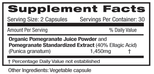 Pomegranate Fruit Supplement Facts