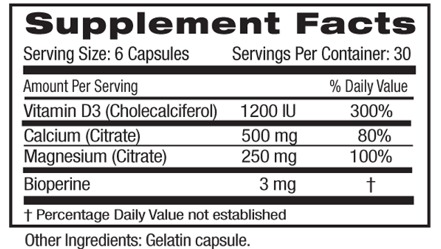 Calcium Mag Citrate Supp Facts