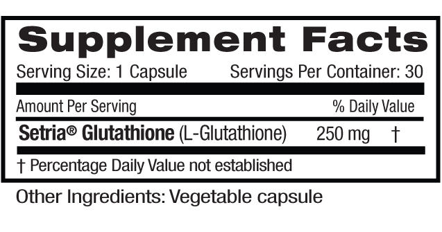 L-Glutathione Supp Facts